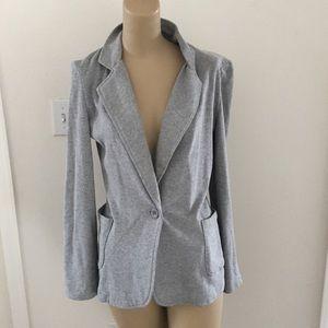 💙  lightweight cotton grey blazer